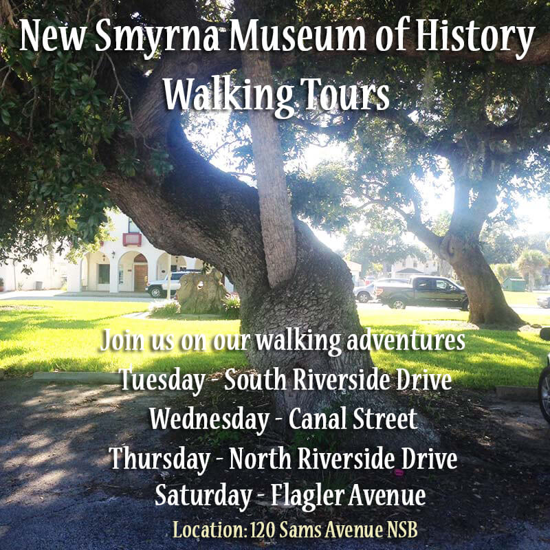 History Walking Tours Canal Street New Smyrna Museum Of History